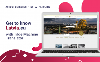 Machine Translation (MT) integration into Latvia.eu provides instant site translation