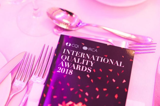 The International Quality Awards 2018